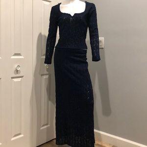 Vintage lace skirt set